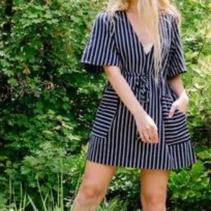 NWT Navy Striped Mini Dress